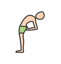 Half moon pose vector