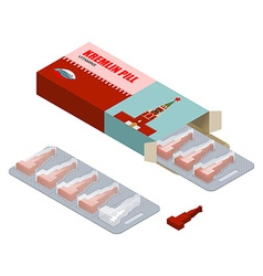 Kremlin pill vitamins russian tablets pills in vector