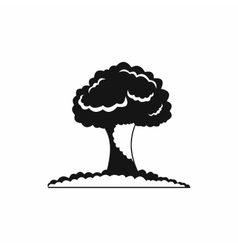 Nuclear explosion icon simple style vector