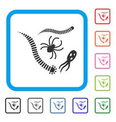 Parasites framed icon vector