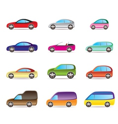 Popular types of cars vector image