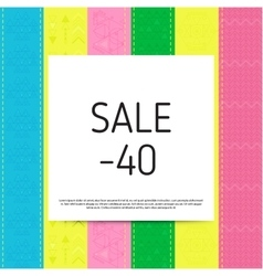 Sale poster with percent vector