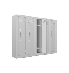 school gym lockers interior element vector image