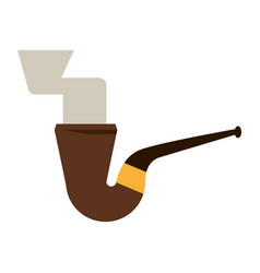 Smoking pipe icon image vector
