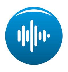 sound wave icon blue vector image