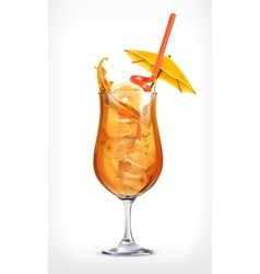 Summer cocktail icon vector image vector image