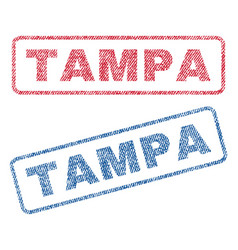 Tampa textile stamps vector