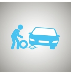 Tire center design vector