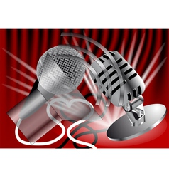 Two microphones vector image
