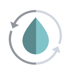 water drop with arrows around vector image