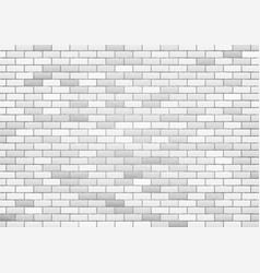 white brick wall texture background vector image