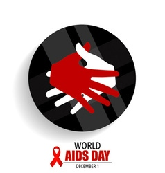 World AIDS Day 1st December World Aids Day poster vector image