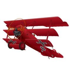 WWI Triplane Warbird vector image vector image