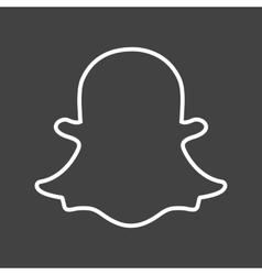 Snapchat vector image