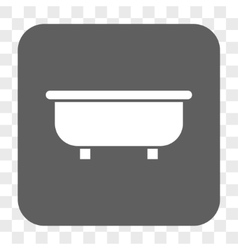 Bathtub rounded square button vector