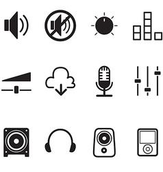 Volume controller Speaker technology icon set vector image