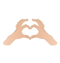 Hands shaping a heart symbol vector