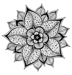 Outline mandala for vector