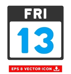 13 friday calendar page eps icon vector