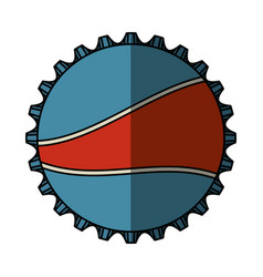 soda metal cap isolated icon vector image