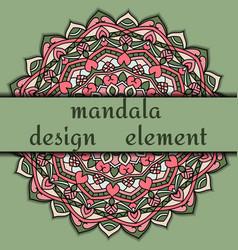 unusual design element beautiful floral mandala vector image