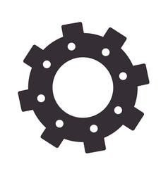 Monochrome silhouette with gear of wheels vector