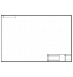 Layout template in blueprint style with marks vector