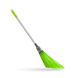 Plastic garden broom vector