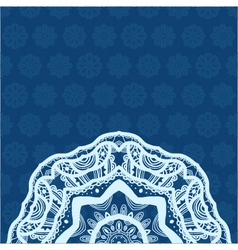 Decorative background with snowflakes vector