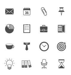 Office icons gray vector