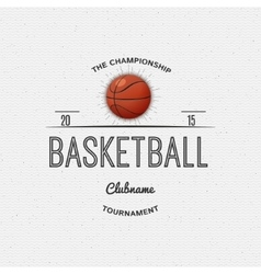 Basketball badges logos and labels for any use vector
