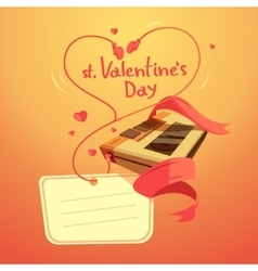 Valentine day retro cartoon vector