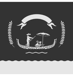 Emblem Venice vector image
