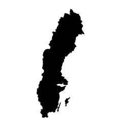 Map sweden vector