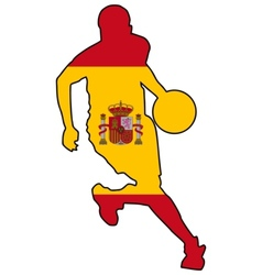 basketball colors of Spain vector image