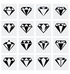 Diamond icon set vector
