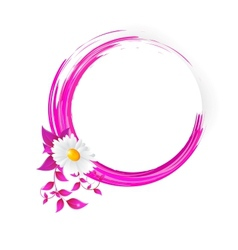 Abstract banner with curls of pink color vector image