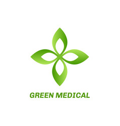 abstract eco green logo vector image