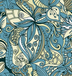 Abstract hand-drawn pattern seamless doodle vector