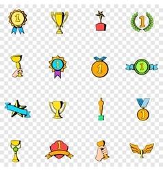 Award set icons vector image