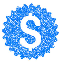 bank seal grunge icon vector image