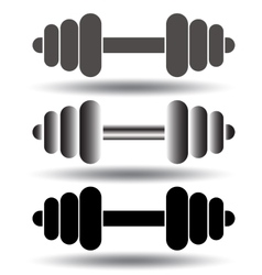 Barbell icon set vector image