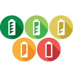 Battery icon set vector