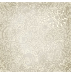 Beautiful seamless vintage pattern vector image vector image