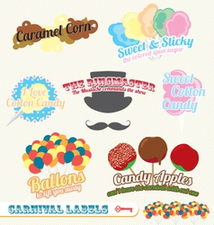 Carnival and Fair Labels vector image