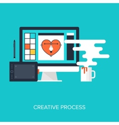 Creative Process vector image vector image