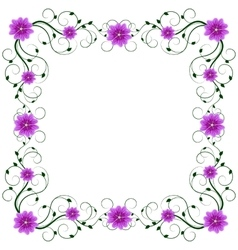 Delicate frame with mallows vector
