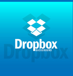 Dropbox logo background image vector