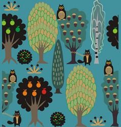 Fairy tale forest vector