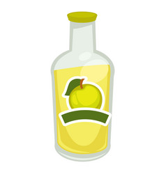 Fizzy water with apple taste vector